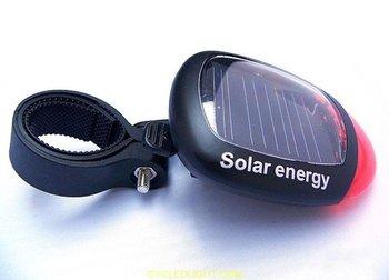 Solar Power Light / Bicycle Rear Tail Light / Solar energy  Flashlight  / Free Shipping