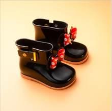 2019 Marka Yeni Mini Melissa 5 Renk yağmur çizmeleri Anti-Skid Jelly yağmur çizmeleri Erkek Melissa Kız Mickey Ayakkabı Jöle Bebek su ayakkabısı(China)