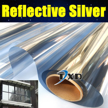 Top quality 50*300CM/Lot Reflective silver Solar Film one way mirror window film sticker privacy security silver reflective(China (Mainland))