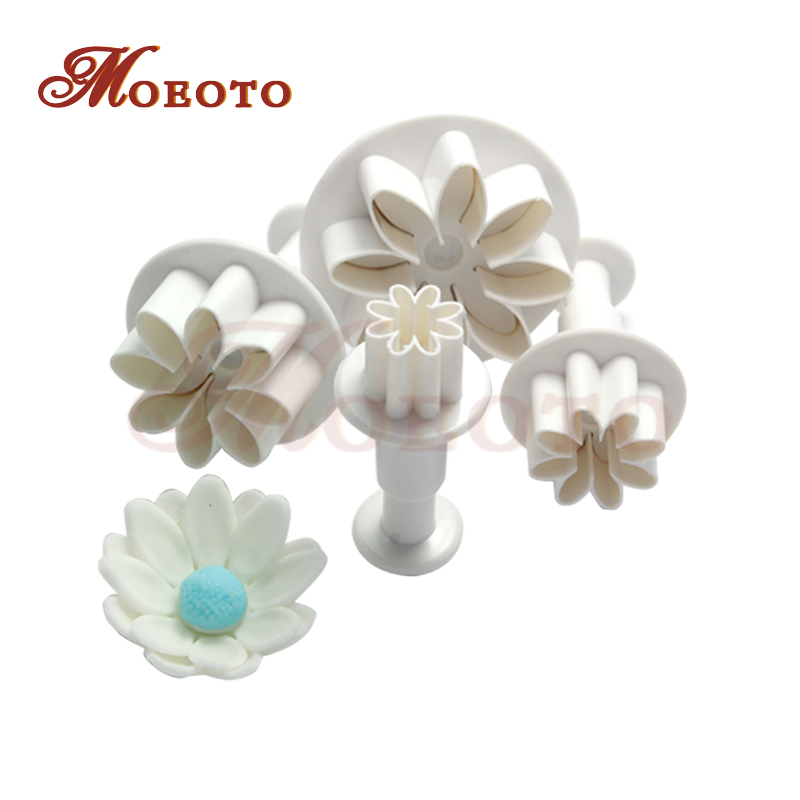 Daisy fondant cake decorating plunger cutters,classical flower cutters,plastic stamp cupcake biscuit dessert mold,free shipping(China (Mainland))