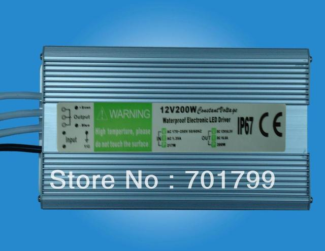 12V/200W waterproof IP68 switch mode LED power supply;170-250V AC/90-130V AC input