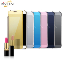 KISSCASE For iPhone 5 5S SE 6 6S Plus Plating Mirror Accessories Cover Case For Samsung S5 S6 Edge Plus S7 Edge Note4 5 A5 A7 A8(China (Mainland))