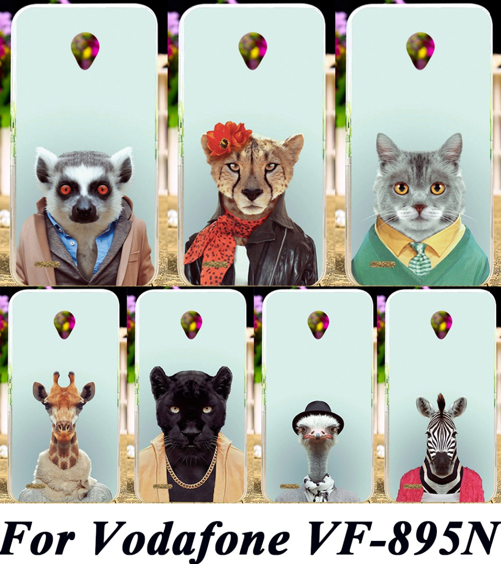 Animal Phone Covers For Vodafone Smart Prime 6 VF-895N 895N Cases Animal Dressing Clothe Anti-Scratch Plastic Durable Shell Hood(China (Mainland))