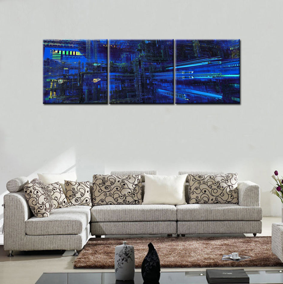 Hd Canvas Print Home Decor Wall Art Painting : Abstract building original hd canvas print home decor wall