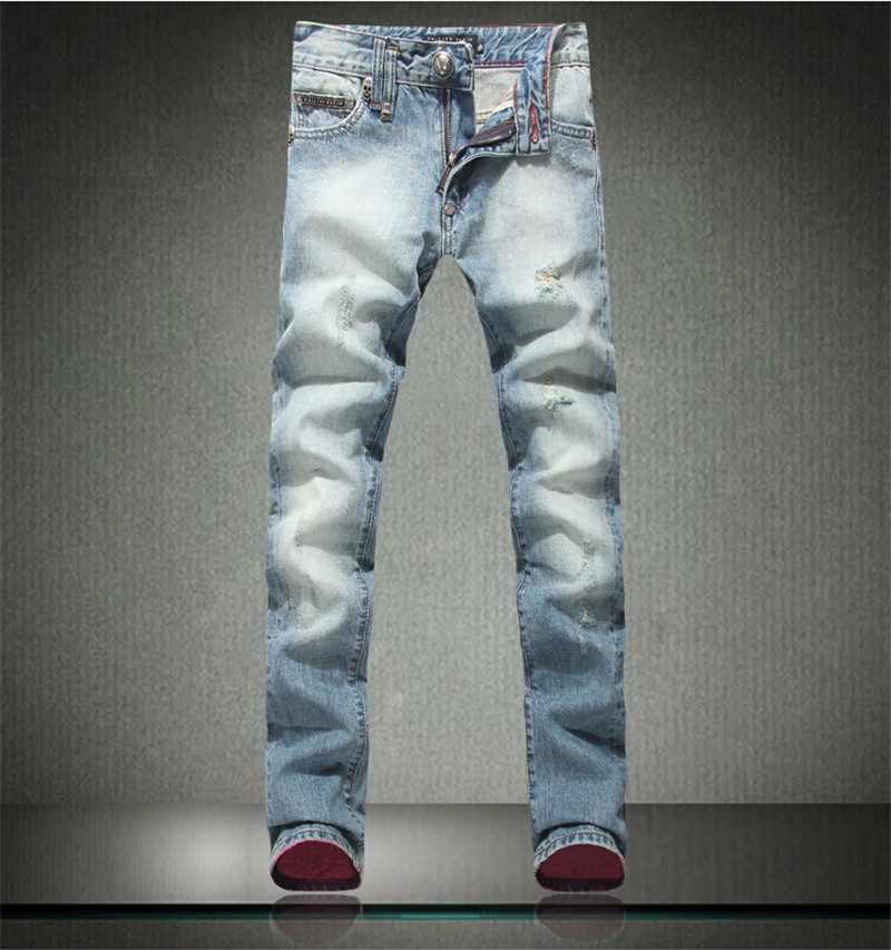 New Italy Fashion Designer Mens Jeans High Quality Straight Ripped Jeans For Men Printed Jeans Casual Pants Plus Size 28-40Одежда и ак�е��уары<br><br><br>Aliexpress