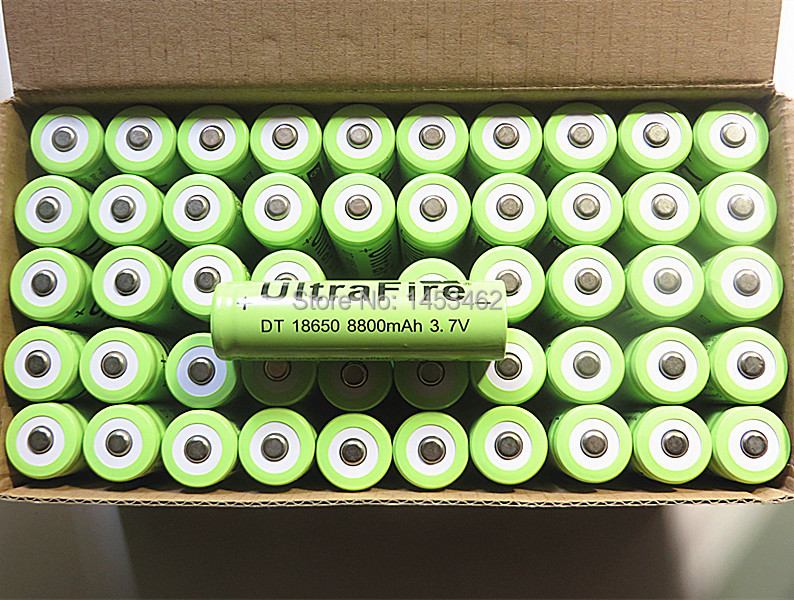 High Capacity 20x 18650 Rechargeable Battery 3 7v 8800 Mah Lithium Li ion Tip Head Battery
