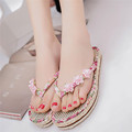 Women Summer Shoes Sandals Flip Flops Fashion Shoes Women s Low Heel Slippers Leather Soft Platform