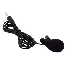 1pc 30Hz~15000Hz 3.5mm Hands Free Clip On Mini Lapel Microphone for Phone MP3/MP4 PC Laptop Tablet Skype MSN