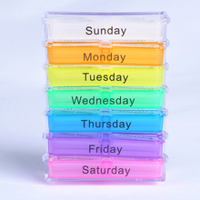 Hot Sale Medicine Weekly Storage Pill 7 Day Tablet Sorter Box Container Case Organizer Health Care(China (Mainland))