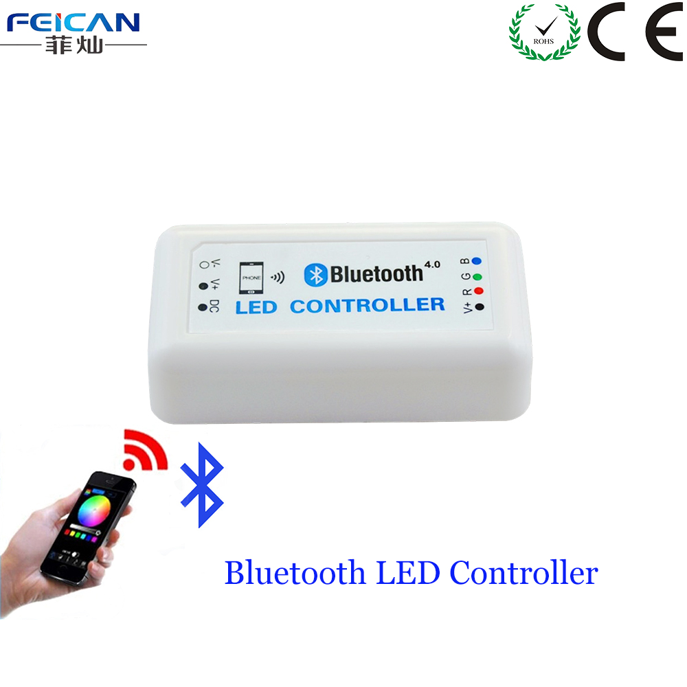 Mini Bluetooth LED Controller DC12-24V 4A/CH RGB Controller Bluetooth 4.0 By Android/IOS Phone's APP Control For RGB LED Strip(China (Mainland))