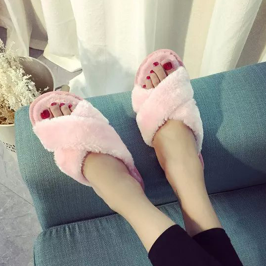 2015 casual slippers fashion thickening home slippers cross women autumn winter slippers drags<br><br>Aliexpress