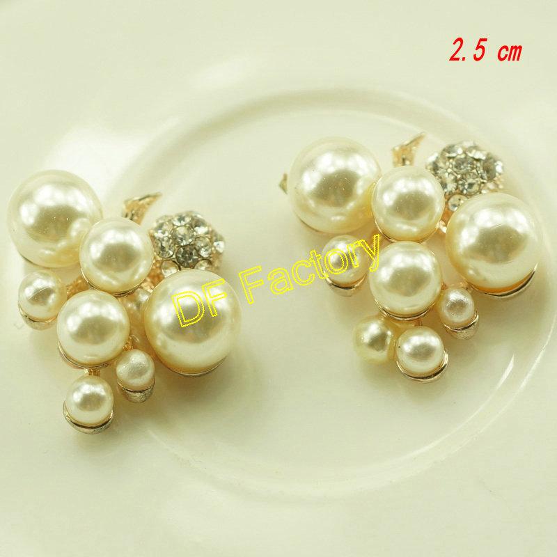 #905 Pearl Flat Back Accessory Rhinestone bottons emebllishment rose gold alloy buttons retail 20pcs/lot(China (Mainland))
