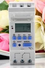 Высокое качество цифровой 220 В THC15A выключатель программируемый времени 110vac 220vac 12vdc 24vdc
