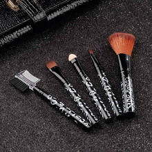 5PCS Cosmetic Makeup Brush Foundation Lip Sponge Eyeshadow Eyebrow Comb Tool New Free Shipping