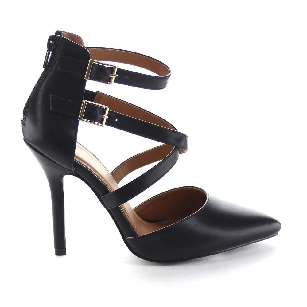 Low Heel Ankle Strap Dress Shoes - Is Heel