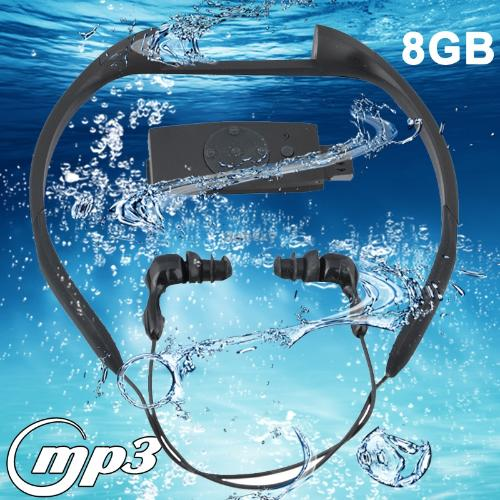 New Arrival 8GB Waterproof IPX8 Swimming Surfing SPA Music Sports MP3 Player with FM Radio (FS-5), Black(China (Mainland))