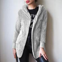 新ファッション春フェイクファーウォーム冬コート両側ジャケット女(China)
