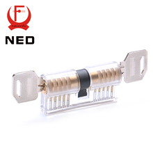 2016 Hot Sale NED Cutaway Transparent Copper Lock Training Skill Professional Visable Practice Padlocks Lock Pick For Locksmith(China (Mainland))