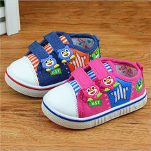 baby super cartoon canvas shoes boys girls soft non slip bottom Toddler shoes for 0-3 years(China (Mainland))