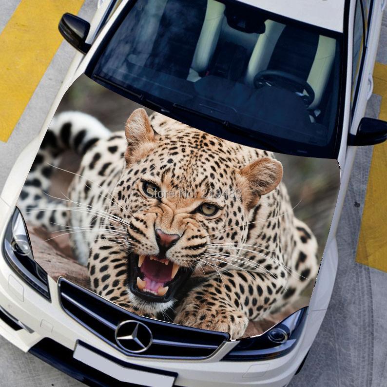 Hd 3d Car Stickers Animal Hood Sticker Exterior
