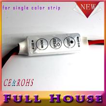 1 шт./лот 12 В мини 3 ключи одноцветные из светодиодов контроллер яркость диммер для из светодиодов 3528 5050 полосы света бесплатная доставка