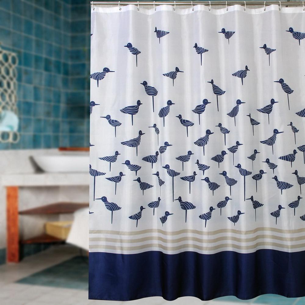 Achetez en gros bleu tissu rideau de douche en ligne des grossistes bleu ti - Revetement douche etanche ...