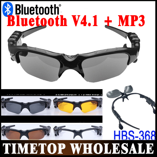 Free DHL UPS 50PCS Sports Bluetooth Sunglasses with Bluetooth earphone Headset MP3 for Cell Phone Wholeasle(China (Mainland))