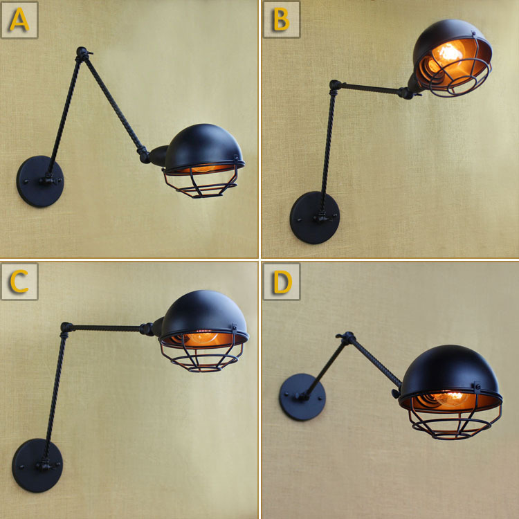 Double Arm Iron Wall Light Cafe Aisle Hall Project Lamp Bedroom Cafe(China (Mainland))