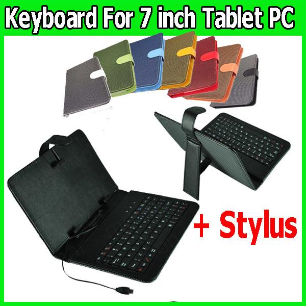 [해외]7 인치 태블릿 PC 마이크로 USB 키보드 짠 패턴 CaseStyl..