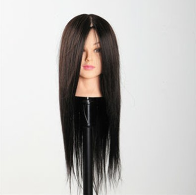100% Real Human Hair Training Head Black Hair Hairdressing Mannequin Head for Professional Style Salon Use