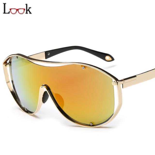Steampunk Sports Oversized Sunglasses Zonnebril Colorful