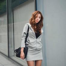 2016 New Women Angel Wings Print Long Sleeve Jumper Hoodie Sweater Mini Dress Casual Sports Style Hot Fashion KH657401(China (Mainland))
