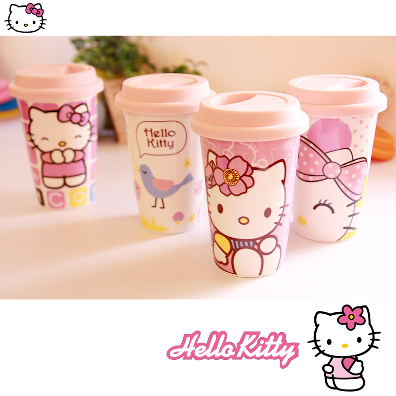 Wholesale Free Shipping Brand New Fashional Hello Kitty Ceramic Coffee Cup hello kitty mugs(China (Mainland))