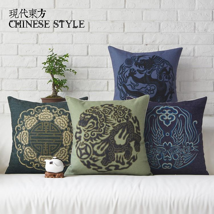Free Shipping Linen Throw Pillow Hot Sale New Fashion Wedding Decor 45cm Chinese Style Retro lucky Home Office Sofa Car Cushion