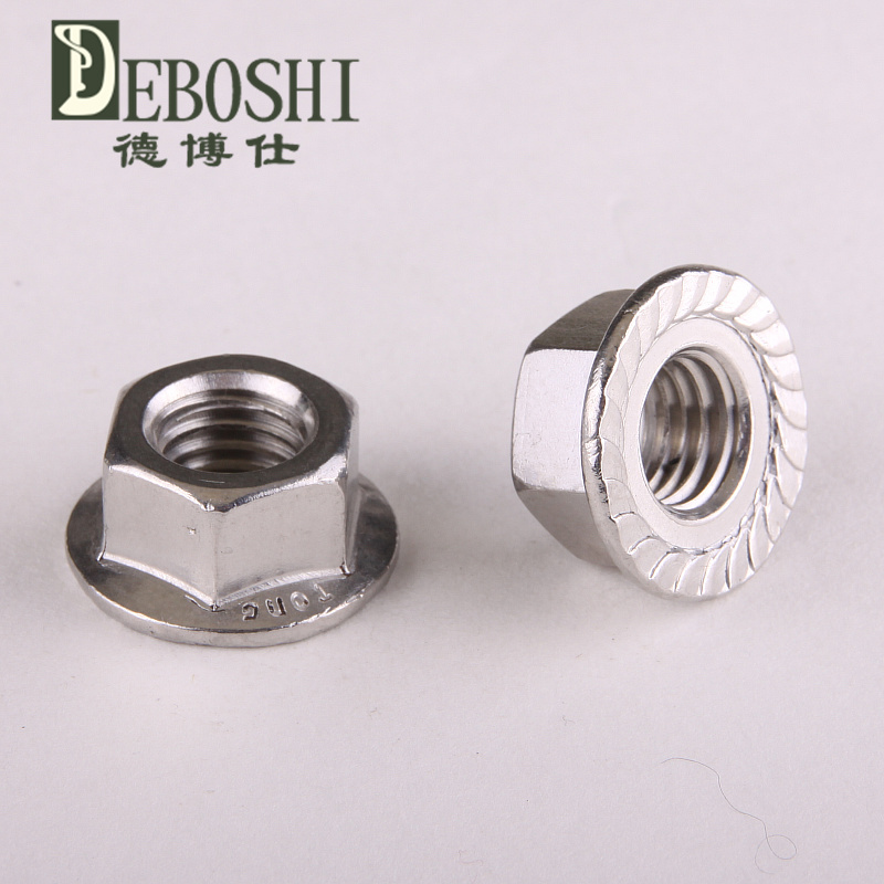 304 stainless steel flanged hex nut flange nuts M10<br><br>Aliexpress