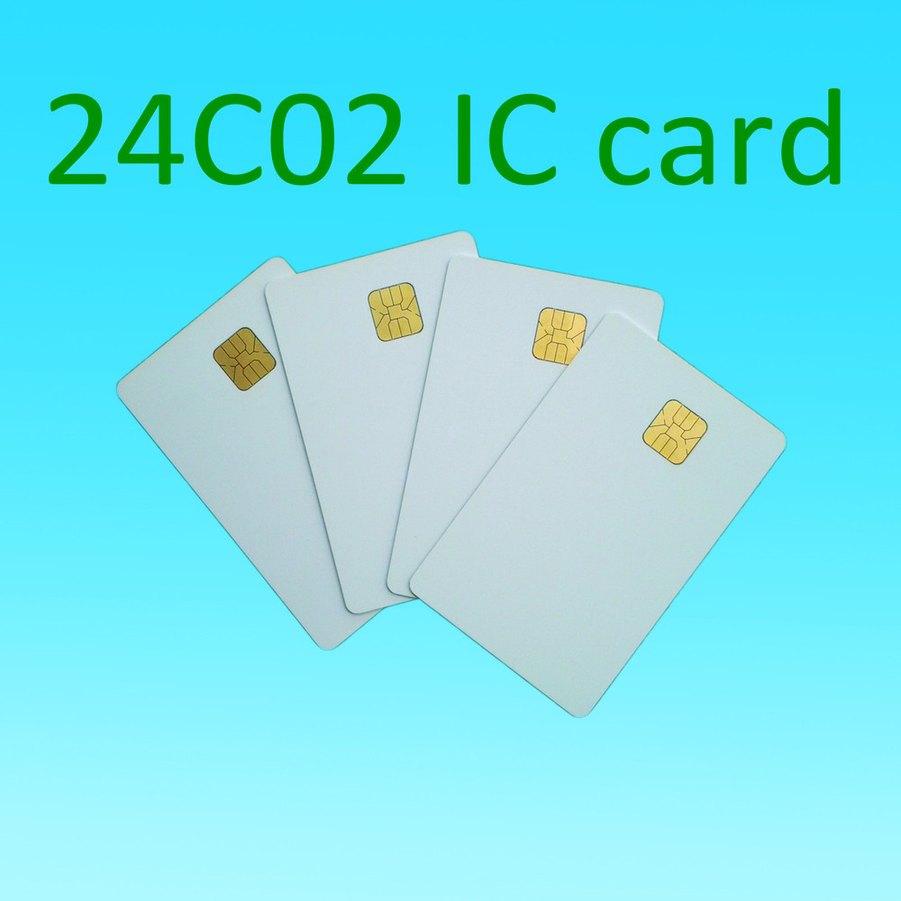 ATMEL 24C02 card 2k white contact smart card social security cards plastic card 10pcs/lot(China (Mainland))