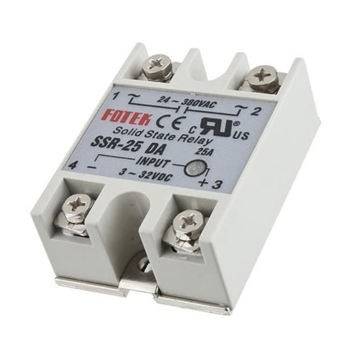 Hot New 1pcs Solid State Relay Module SSR-25DA 25A /250V 3-32V DC Inpu