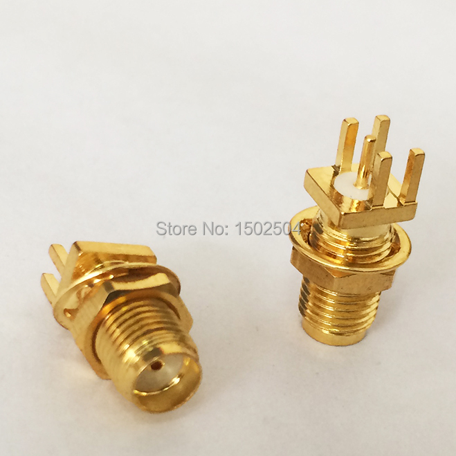Гаджет  SMA Female Jack nut RF Coax Connector  for  end launch PCB Cable  Straight  Goldplated  NEW wholesale None Электротехническое оборудование и материалы