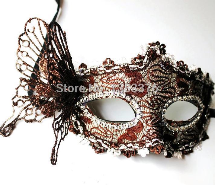 Wholesale Price 10 pc/lot Halloween Masquerade half face mask Venetian mask powder princess dimensional butterfly mask 4014(China (Mainland))