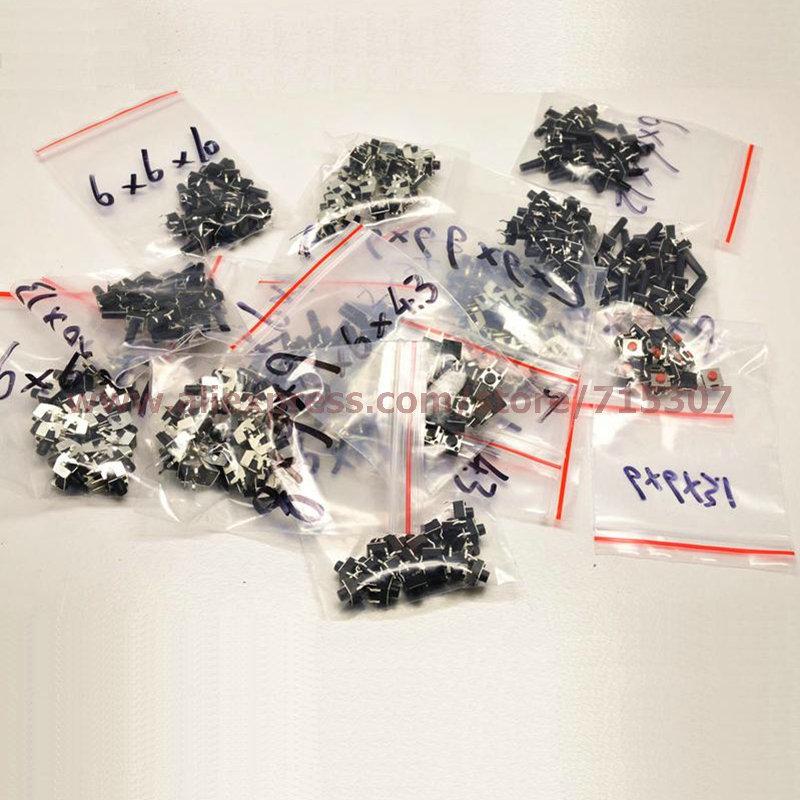 6*6 Tact Switch Kit through hole commonly used 14 x 20pcs= 280pcs free shipping(China (Mainland))