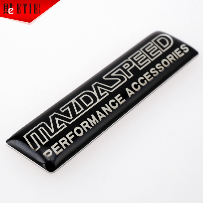 2015 ETIE Mazda Speed Car Badge Logos 3D Metal Letters Sticker Aluminium Motor Decal Racing Car Styling Sport Automobile Emblems(China (Mainland))
