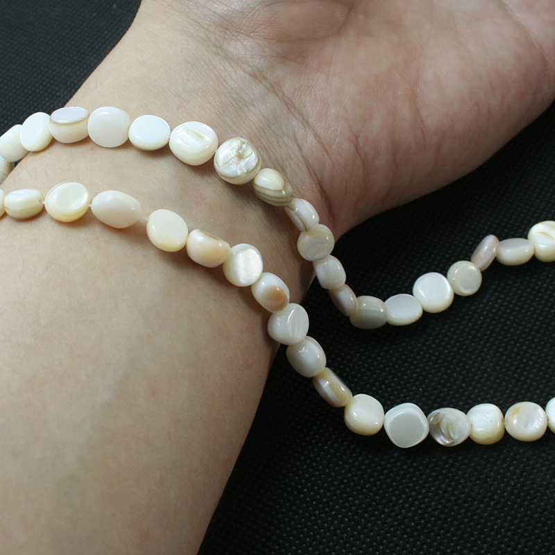 Penney Hot Sale 8mm Approx 46pcs Natural freshwater Shell White MOP Beads for Jewelry DIY Craft(China (Mainland))