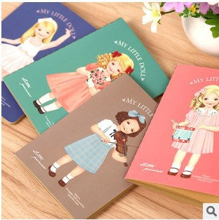 New 24pcs/ set stationery kraft Girl mini Diary /blank Notebook / Notepads / Fashion Gifts/ school supplies/wholesale<br><br>Aliexpress