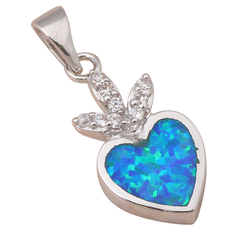 Designers top sell beautiful heart blue fire opal fashion for Top fashion jewelry designers