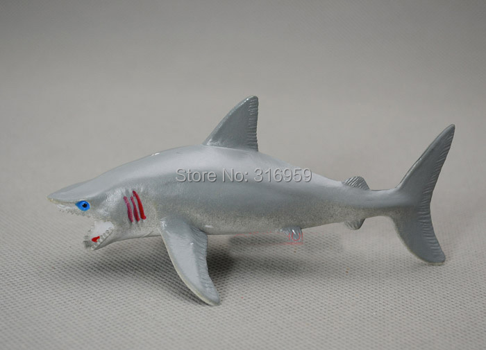13 cm white shark model pvc action figures model sea life animals world great shark model toys for collection(China (Mainland))