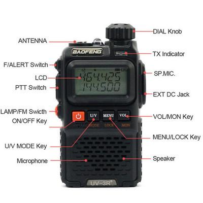 2 шт. / lot BaoFeng уф-3r UV-3R большой радио, Часы двойной лента 136 - 174 мГц UV-3R mini порт
