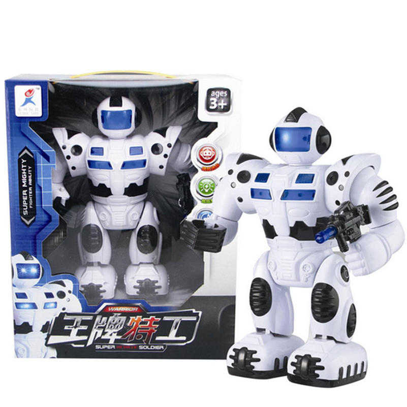 Musical Electric Robot Toys Light Music Space Walking Dancing Robot Rotating Dancer Electronic Toys For Children Christmas Gifts(China (Mainland))