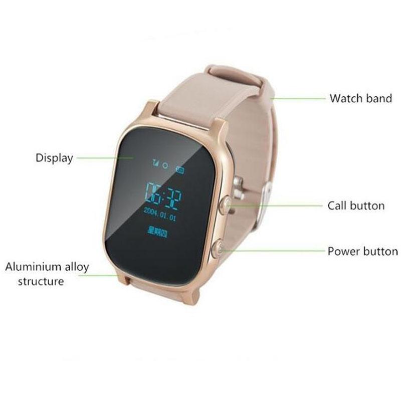 Купить 2017 GPS Tracker Часы Для Детей Ребенка GPS Браслет Google Map Sos Кнопку GPS Браслет Персональный Трекер GSM Локатор GPS бесплатно