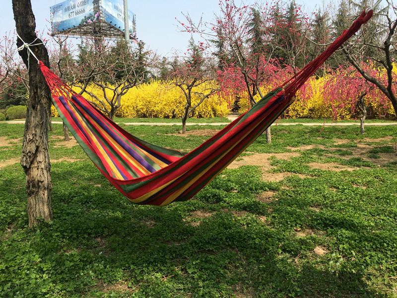 Portable 130 kg Load-bearing Outdoor Garden Hammock Hang Bed Travel Camping Swing Survival Outdoor Sleeping Free Shipping