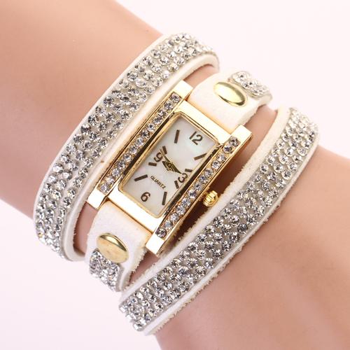 2015 New design women vintage cow leather strap watches,set auger rivet bracelet women dress watches,women wristwatches XR116(China (Mainland))